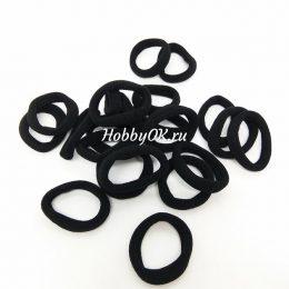 Резинки 30 мм бесшовные, цвет: чёрный, арт.4539