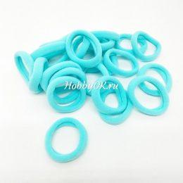 Резинки 30 мм бесшовные, цвет: голубой, арт.4726