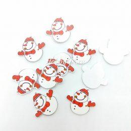 Новогодний декор Снеговик, 30*30 мм, арт.0000
