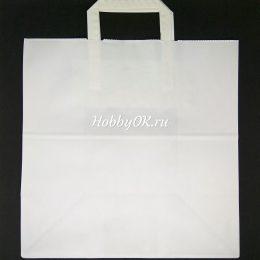 Бумажный пакет 32*32*18 см, цвет: белый, арт. 1745