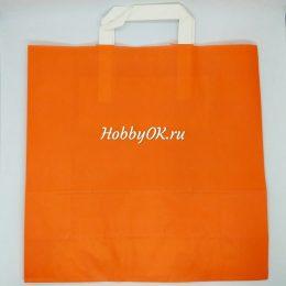 Бумажный пакет 32*32*12см, цвет: оранжевый, арт. 2152