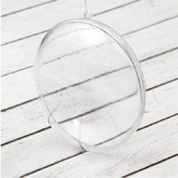 Медальон пластиковый прозрачный для декора 10 см