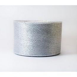 Лента парча серебро 40 мм