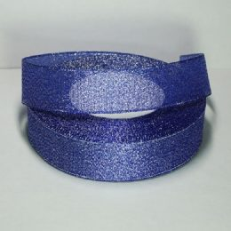 Лента парча 40 мм цвет: синий