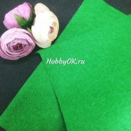 Фетр мягкий 1 мм, цвет: зелёный, арт.1441