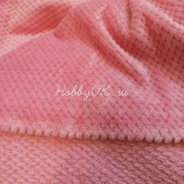 Плюш СОТЫ, 20*40 см цвет розовый