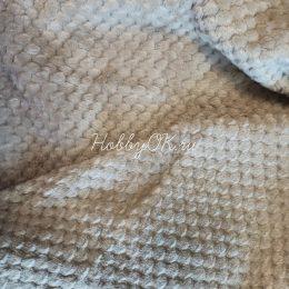 Плюш СОТЫ, цвет коричневый, 20*40 см