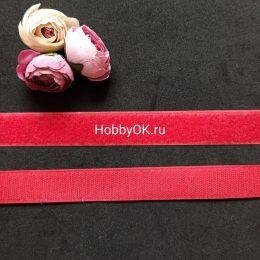 Лента липучка 2,5*20 см, цвет красный, арт. 739