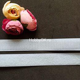 Лента липучка 2,5*20 см, цвет сиреневый, арт. 945