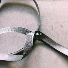 Лента липучка 2*20 см, цвет чёрный, арт.1418