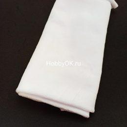 Ткань велюр 50*40см цвет: белый, арт. 1211