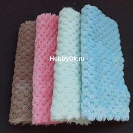 Набор тканей плюш соты 20*20 см 4 вида