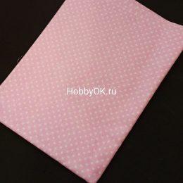 Ткань хлопок ГОРОХ 50*40см цвет: розовый, арт. 4509