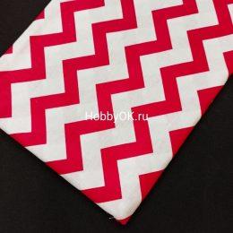 Ткань хлопок ЗИГЗАГ 50*40см цвет: малиновый, арт. 5331
