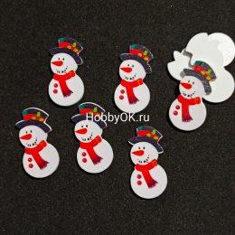 Новогодний декор Снеговик, 35 мм, арт.4545