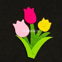 Цветы из фетра, ТЮЛЬПАНЫ, арт. 2505