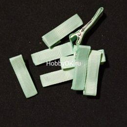 Заколка — основа (металл+ткань) 35 мм, мятный