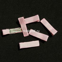 Заколка - основа (металл+ткань) 35 мм, розовый