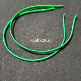Ободок - основа 5 мм мелалл/ткань, зеленый, 300-768