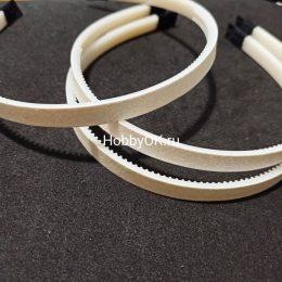 Ободок для волос, цвет: белый с блестками, пластик арт.307-312
