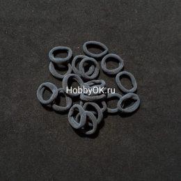 Резинки 30 мм бесшовные, цвет: темно-серый, арт.035