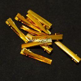 Заколка - основа (металл) 4,5 см, золото, арт.302-56