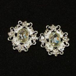 Кабошоны с подвеской цв.серебро арт. 0855