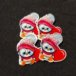 Кабошоны Пингвинёнок 3,5*3,7 см, арт 7268