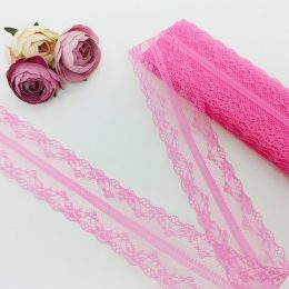 Кружево 4,5 см, цвет розовый, арт.0080