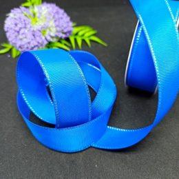 Репсовая лента с люрексом, цвет: синий арт. 40-81