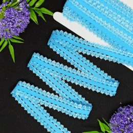 Тесьма эластичная, 20 мм, цвет: голубой, арт. 287