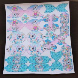 Кожа с шаблонами для бантиков Единороги, арт. 0606