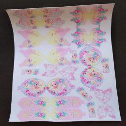 Кожа с шаблонами для бантиков Эльза, арт. 0706
