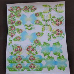 Кожа с шаблонами для бантиков Лето, арт. 0806