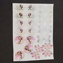 Кожзам с шаблонами бантов, МИКС, арт. 0711