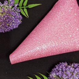 Фоамиран глиттерный 20/30 см, розовый, арт. 2024