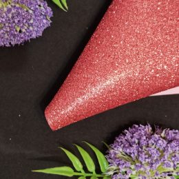 Фоамиран глиттерный 20/30 см, пепельно - розовый, арт. 2025