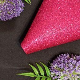 Фоамиран глиттерный 20/30 см, т.розовый, арт. 2030