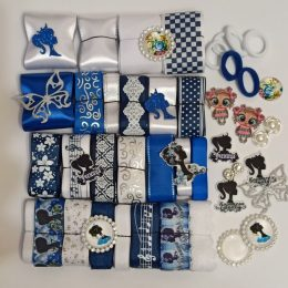 Набор лент для бантиков Синее настроение с аксессуарами (50 м)арт. 2207/1