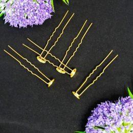 Шпильки 6,5 см, цвет: золото, 6505