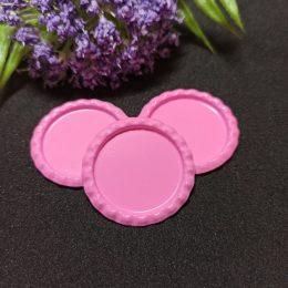 Крышечки декоративные металлические, d-26 мм, розовый, арт.3976